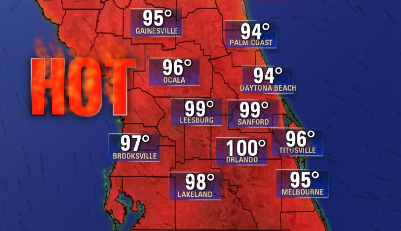 Where are you, fall? Heat index could reach triple digits in Central Florida on Tuesday
